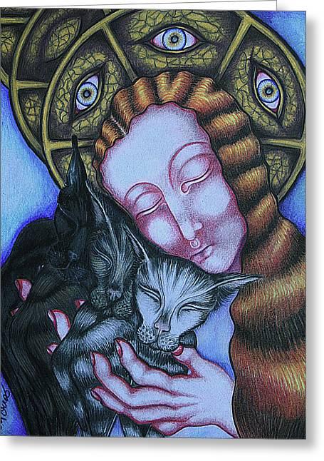 Metaphysics Greeting Cards - All Small Things Matter Greeting Card by Maryska Torresowa