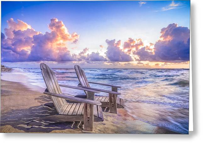 On The Beach Greeting Cards - All Summer Long Greeting Card by Debra and Dave Vanderlaan