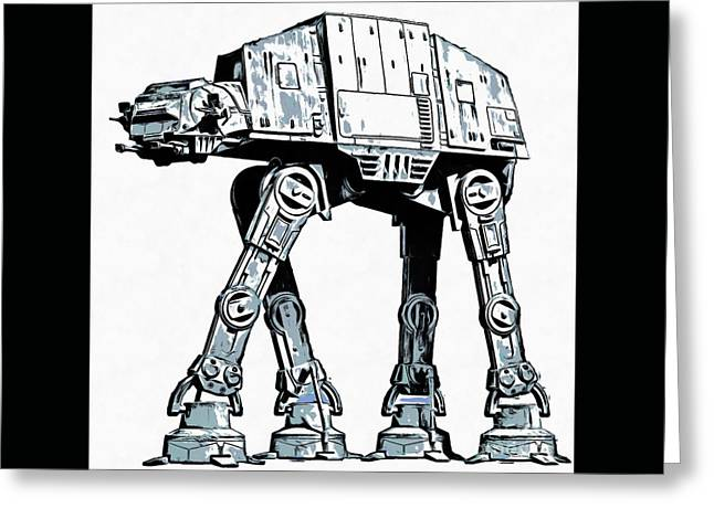 All Terrain Armored Transport At At Walker Greeting Card by Edward Fielding