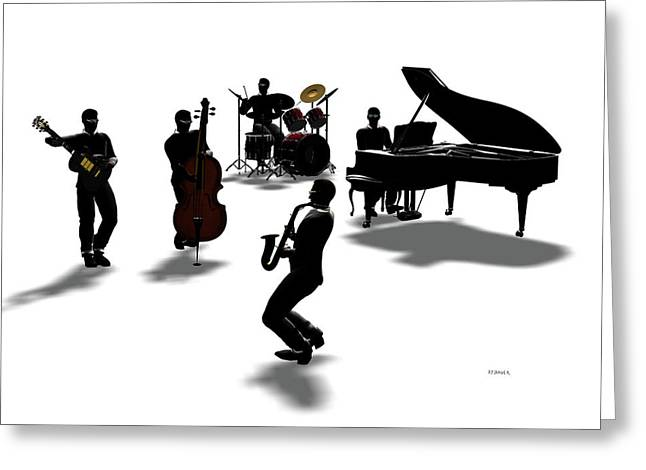 All That Jazz Greeting Cards - All That Greeting Card by Daniel Bauer
