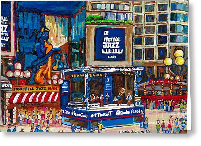 All That Jazz Greeting Cards - All That Jazz Greeting Card by Carole Spandau