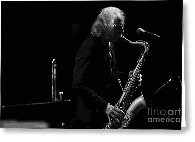 Saxaphone Greeting Cards - All that Jazz Greeting Card by David Bearden