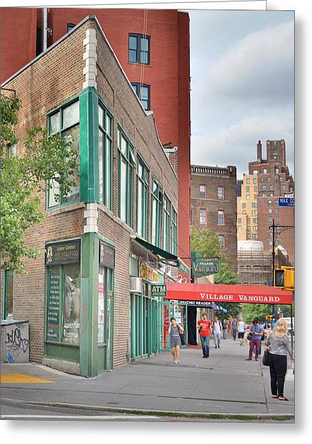 Vanguard Greeting Cards - All That Jazz - Greenwich Village Vangaurd  Greeting Card by Jeffrey Friedkin