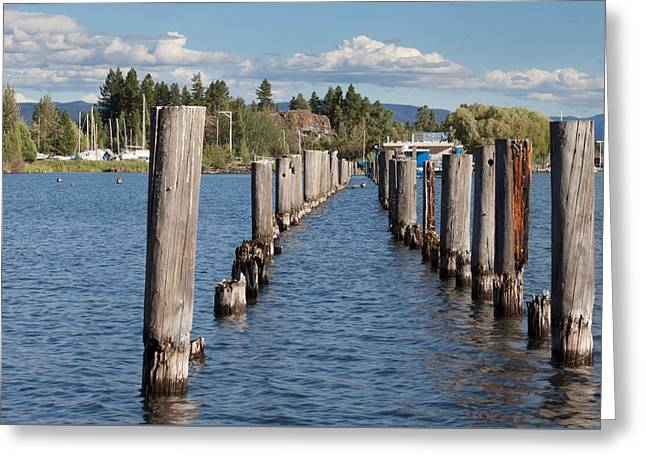 Wooden Platform Greeting Cards - All That Remains Greeting Card by Fran Riley