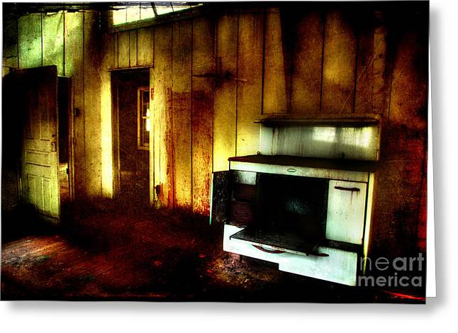 Abandoned Homes Greeting Cards - All Thats Left Greeting Card by Michael Eingle