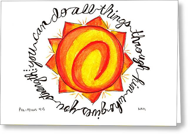 All Things Greeting Card by Kristen Williams