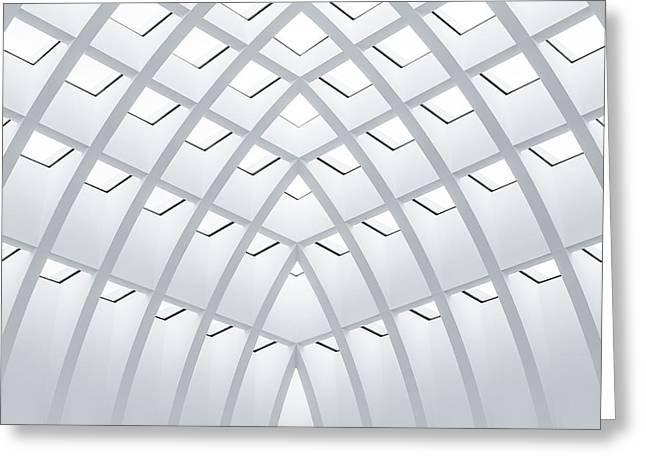 Galeria Greeting Cards - All White Greeting Card by Herve Loire