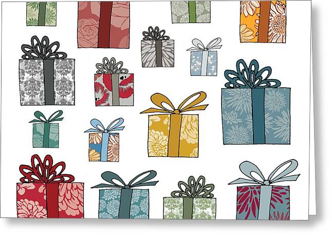 All Wrapped Up Greeting Card by Sarah Hough