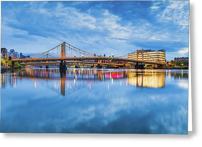 Allegheny River  Greeting Card by Emmanuel Panagiotakis