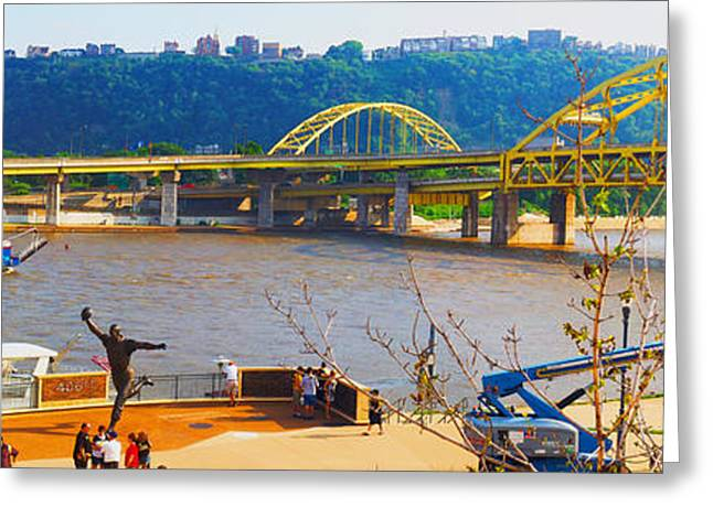 Pirate Ships Greeting Cards - Allegheny River Scene Greeting Card by C H Apperson