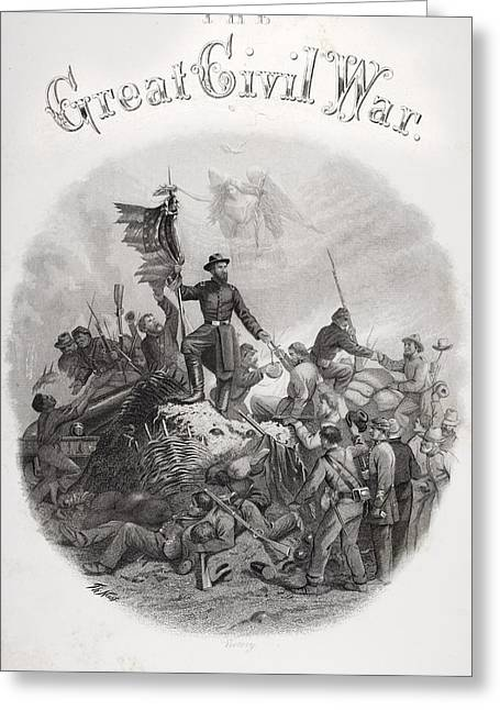 Engagement Picture Greeting Cards - Allegorical Engraving Of Victory From Greeting Card by Ken Welsh