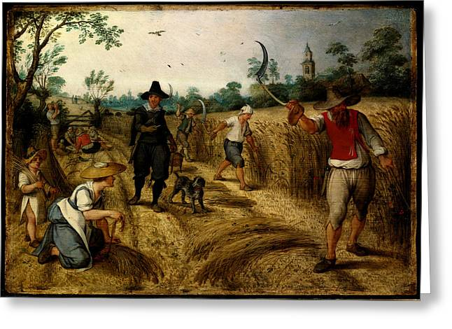Harvest Art Greeting Cards - Allegories of the Seasons Summer Greeting Card by Sebastiaen Vrancx