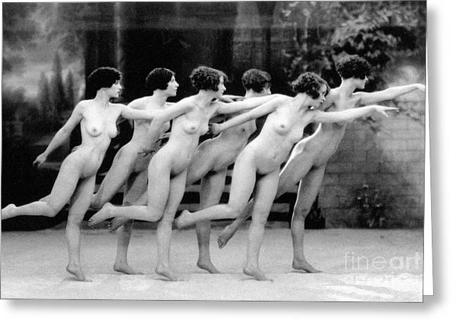 Nude Photographs Greeting Cards - Allen: Chorus Line, 1920 Greeting Card by Granger
