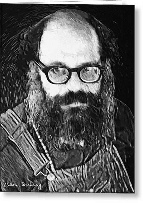 Allen Ginsberg Greeting Card by Taylan Soyturk