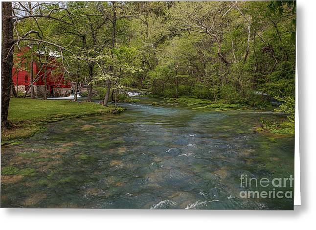 Grist Mill Greeting Cards - Alley Mill Greeting Card by Lynn Sprowl
