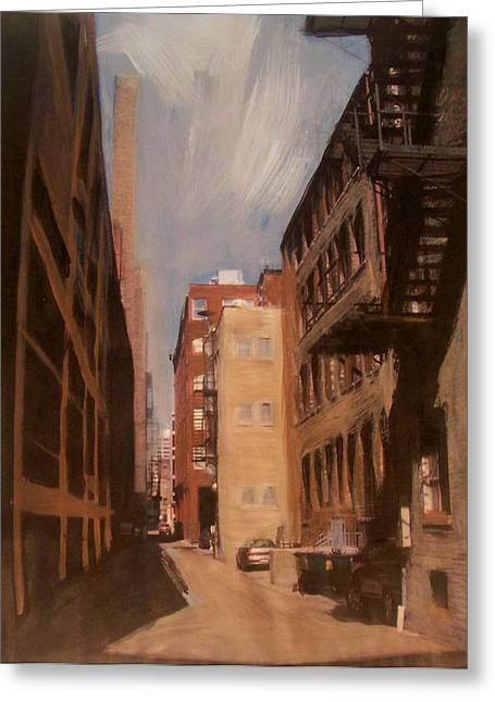 Alley Series 1 Greeting Card by Anita Burgermeister
