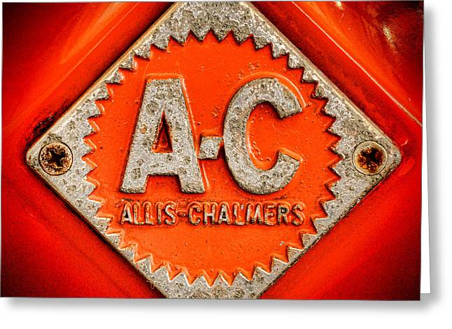 Allis Chalmers Badge Greeting Card by Olivier Le Queinec