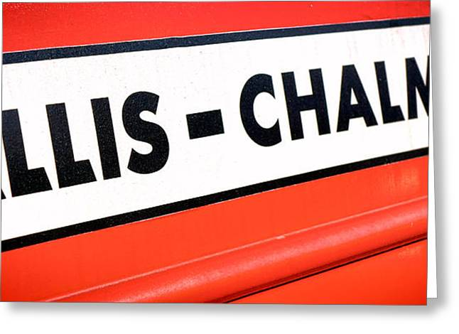 Allis Chalmers Nameplate Greeting Card by Olivier Le Queinec