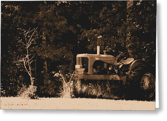 Chalmers Greeting Cards - Allis Chalmers Greeting Card by Scott Hovind