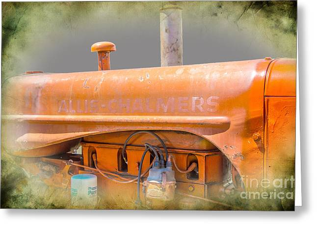 Dynamos Greeting Cards - Allis Chalmers Tractor Greeting Card by Darrell Hutto
