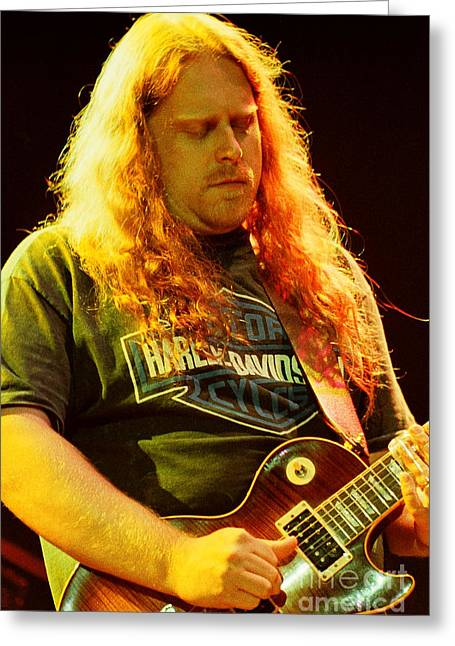 Famous Artist Greeting Cards - Allman Brothers-Warren-1121 Greeting Card by Gary Gingrich Galleries