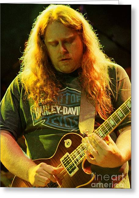 Famous Artist Greeting Cards - Allman Brothers-Warren-1125 Greeting Card by Gary Gingrich Galleries