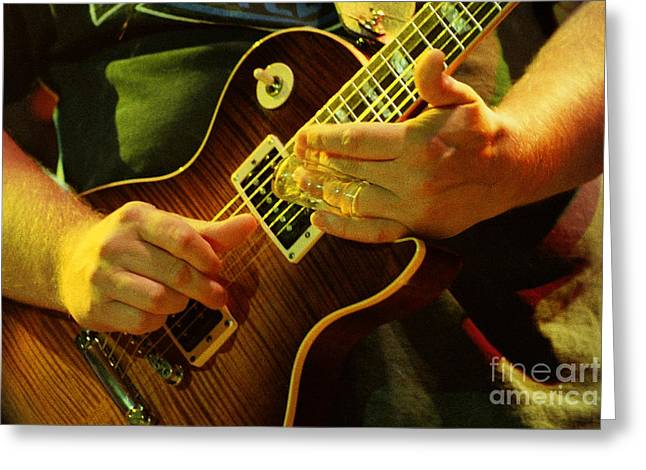 Famous Artist Greeting Cards - Allman Brothers-Warren-1128 Greeting Card by Gary Gingrich Galleries