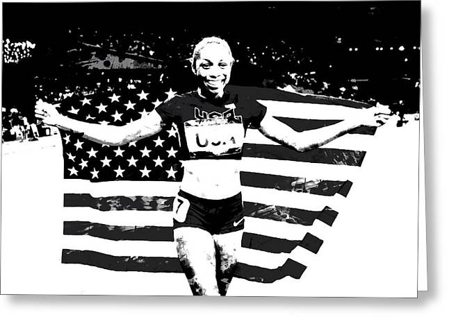 Allyson Felix S1a Greeting Card by Brian Reaves