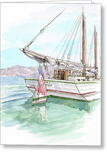 Alma Greeting Card by Tom Taneyhill