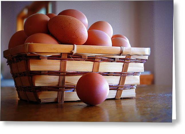 Almost All My Eggs In One Basket Greeting Card by Cricket Hackmann