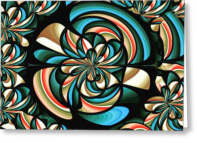 Geometric Artwork Greeting Cards - Almost floral abstract Greeting Card by Gaspar Avila