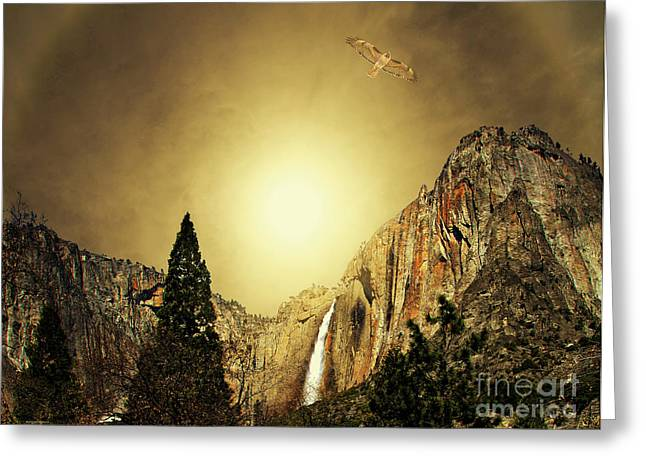 National Parks Mixed Media Greeting Cards - Almost Heaven . Full Version Greeting Card by Wingsdomain Art and Photography