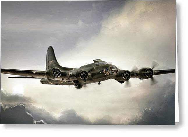 Vintage Air Planes Greeting Cards - Almost Home Greeting Card by Peter Chilelli