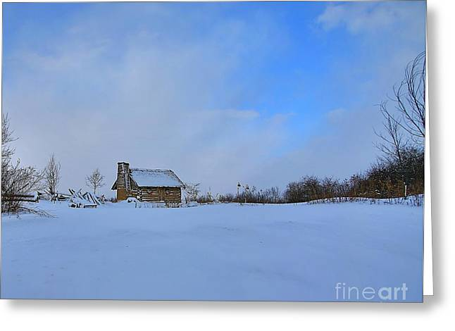 Log Cabins Greeting Cards - Almost home Greeting Card by Robert Pearson