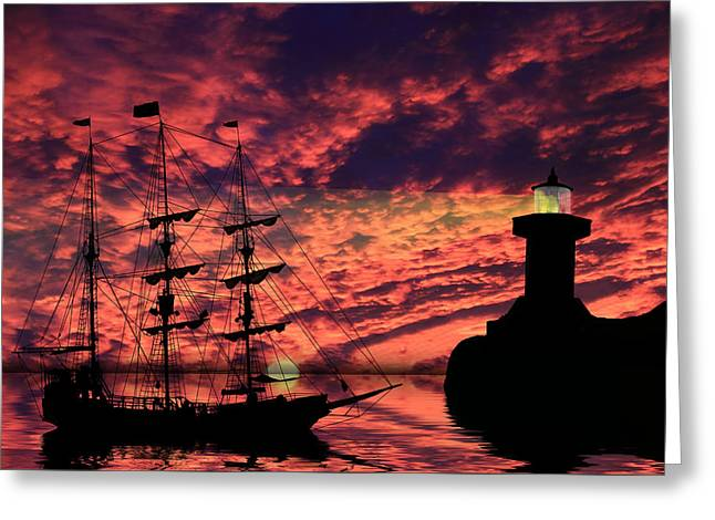 Pirates Greeting Cards - Almost Home Greeting Card by Shane Bechler