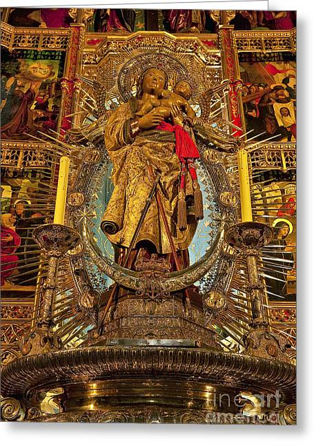 Altering Greeting Cards - Almudena Cathedral Alter Greeting Card by John Greim