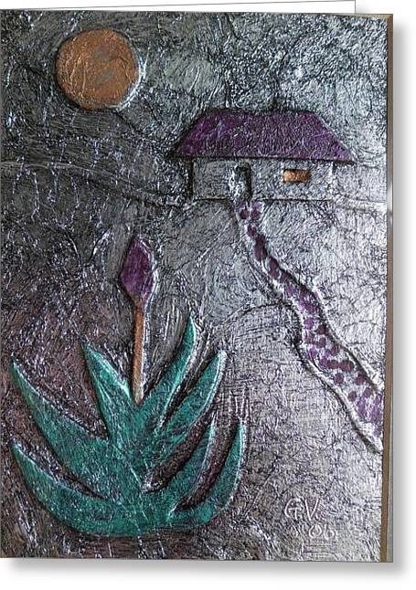 Creating Reliefs Greeting Cards - Aloe And Sun Greeting Card by Gerhard Vlok