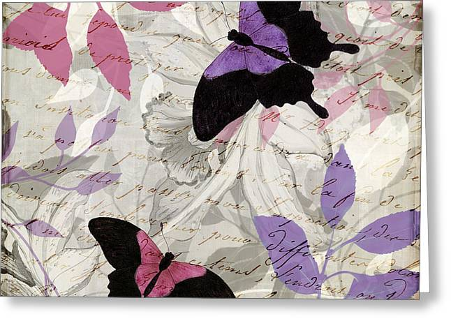 Pink And Purple Greeting Cards - Aloft II Greeting Card by Mindy Sommers