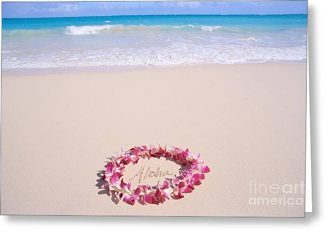 Aloha Greeting Card by Mary Van de Ven - Printscapes