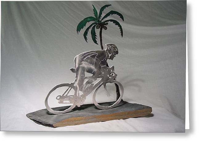 Aluminum Sculptures Greeting Cards - Aloha  Greeting Card by Steve Mudge