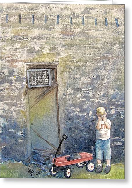 Best Sellers -  - Missing Child Greeting Cards - Alone Greeting Card by Gale Cochran-Smith