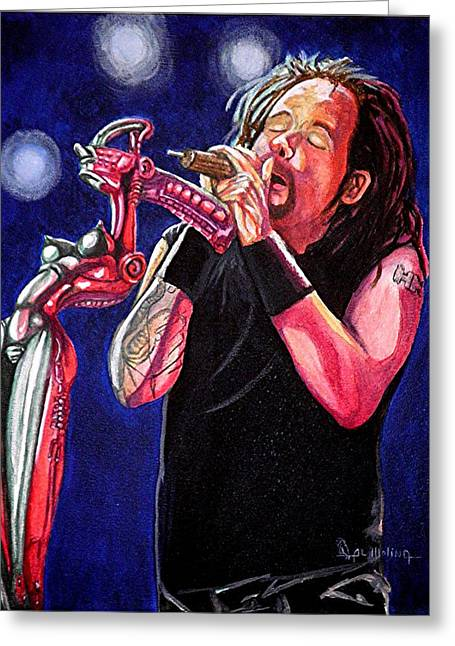 Musicans Greeting Cards - Alone I Break Greeting Card by Al  Molina