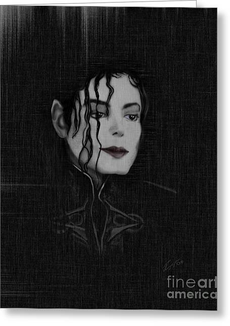 Michael Jackson Greeting Cards - Alone In The Dark I Greeting Card by Reggie Duffie