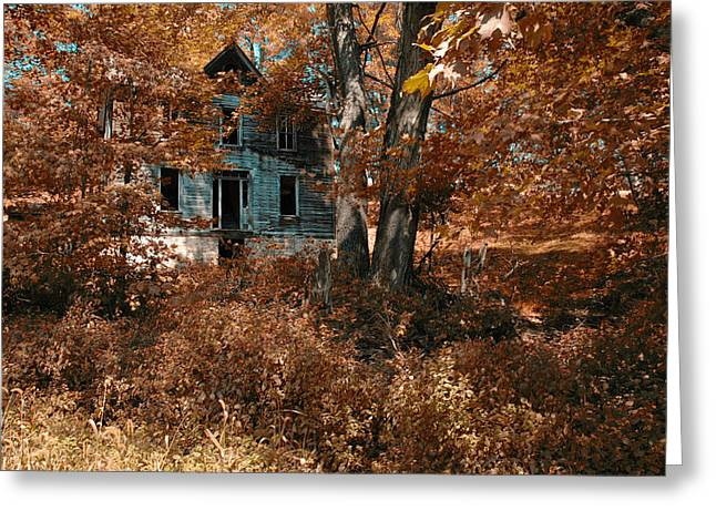 Abandoned Farm House Greeting Cards - Alone Now Greeting Card by Ross Powell