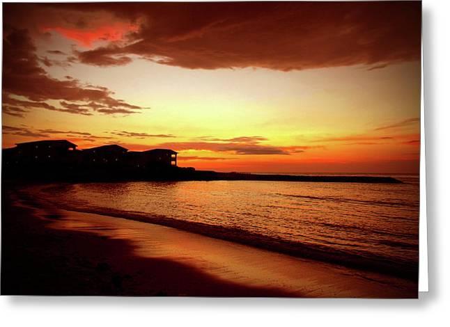 Alone on the Beach Greeting Card by Kamil Swiatek