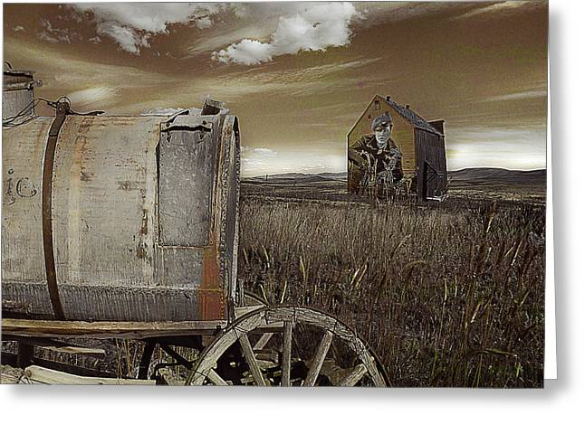 Antique Wagon Greeting Cards - Alone on the Plains Greeting Card by Jeff Burgess