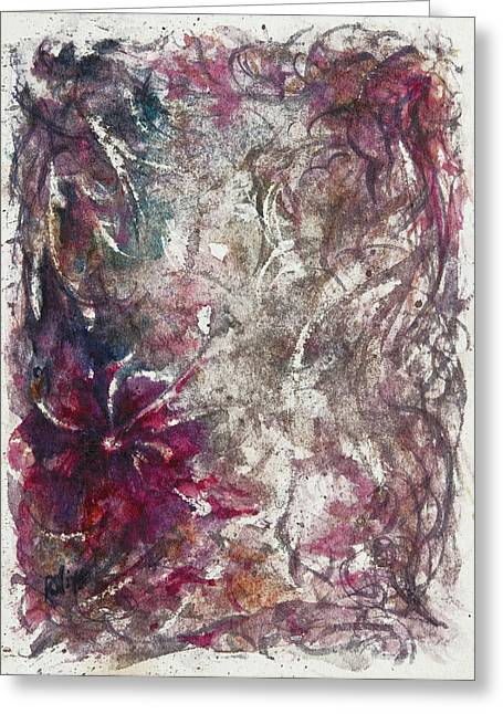 Female Fairy Abstract Greeting Cards - Along a narrow path Greeting Card by Rachel Christine Nowicki