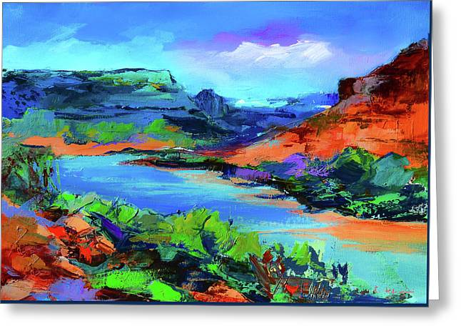 Along Colorado River - Utah Greeting Card by Elise Palmigiani