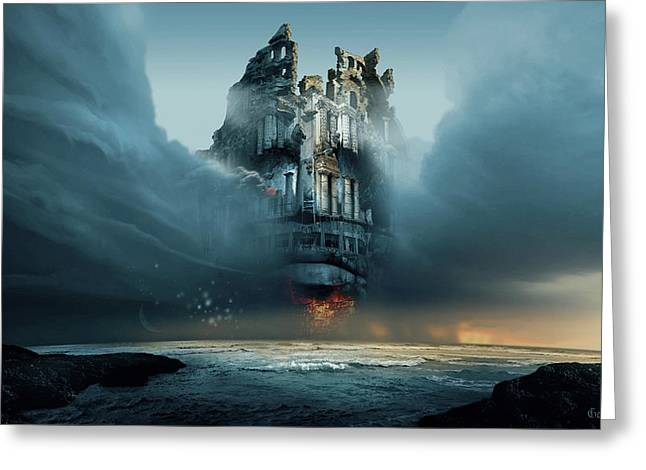 Along Ruined Soul Greeting Card by George Grie