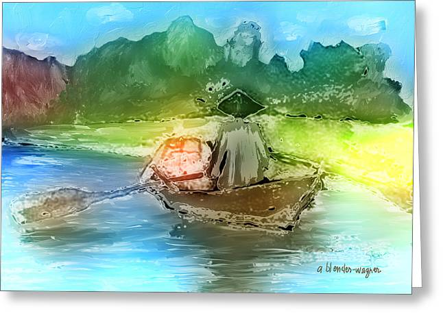 Along The Banks Of Hanoi Greeting Card by Arline Wagner